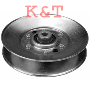 "IDLER PULLEY REPLACES CUB CADET 756-3045. ID 3/8"", OD 5"", HEIGHT 1-1/8""."