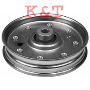 "IDLER PULLEY REPLACES CUB CADET 01004081, 756-3005.  ID 3/8"", OD 4-1/4"", HEIGHT 3/4""."