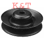"SPINDLE PULLEY REPLACES AYP 144917. ID 5/8"", OD 4"", HEIGHT 1-1/2"".  FITS SPINDLES ON 46"" DECKS."