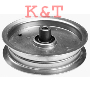 "FLAT IDLER PULLEY.  ID 3/8"", OD 5-3/4"", HEIGHT 1-3/8"".  MTD 756-3105, 956-3105 IDLER PULLEY.   FITS 54"" CUT DECKS."