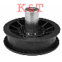 "FLAT IDLER PULLEY.  ID 3/8"", OD 3-1/2"" Height 1-11/16""  AYP 179114.  PULLEY FLAT WIDTH 3/4""."