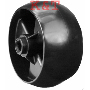 "PLASTIC DECK WHEEL 5"" replaces Cub Cadet MTD White Outdoor Troy Bilt 734-04155. 5"" x 2-5/8"" ID, 1/2"" offset hub, 2-1/2"" length, smooth tread"