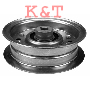 "FLAT IDLER PULLEY.  ID 3/8"", OD 4-3/8"", HEIGHT 1-29/64"".  AYP 173901/156493.  FITS 46"" DECKS.  PULLEY FLAT WIDTH 1""."